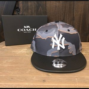 NWT Authentic Coach New Era Camo Yankees Hat